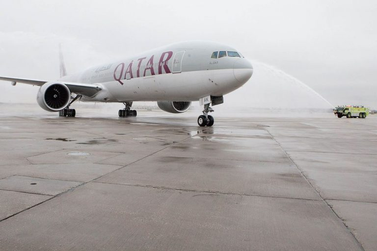 Qatar Airways flights from Doha to the U.S. will now follow a strict no-gadgets rule. The only exception? Your phone. Photographer: Jeff Schear/Getty Images for Qatar Airways
